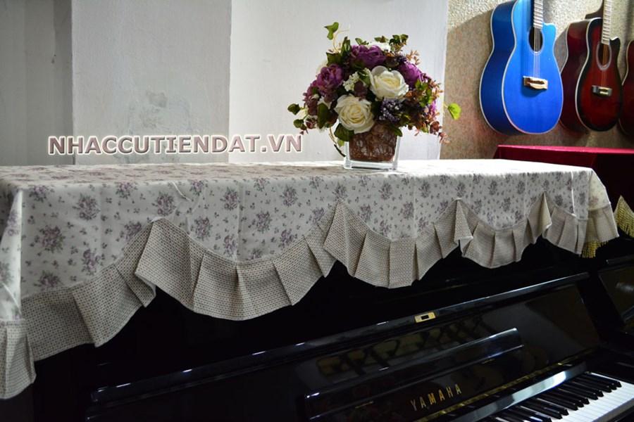 Khăn phủ đàn Piano họa tiết hoa nhí xếp ly - U106