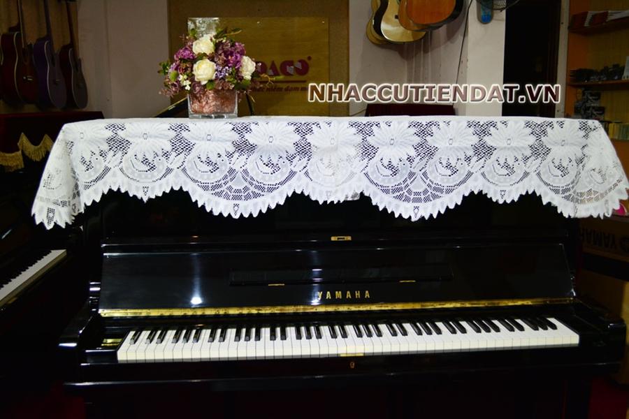 Khăn phủ đàn Piano ren hoa cúc trắng - U101